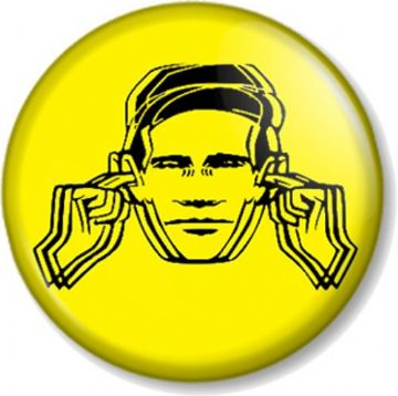 Factory Records Hacienda Pinback Button Badge Manchester Club Label 1980s - Yellow